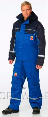 Зимний костюм для защиты от повышенных температур, кратковременного воздействия пламени, искр и брызг расплавленного металла